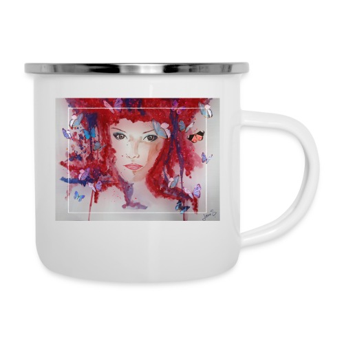 Butterfly Love - Emaille-Tasse