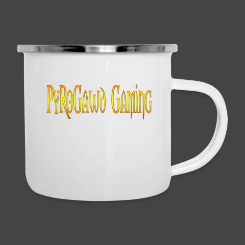 PyroGawd Logo Text - Emaille-Tasse