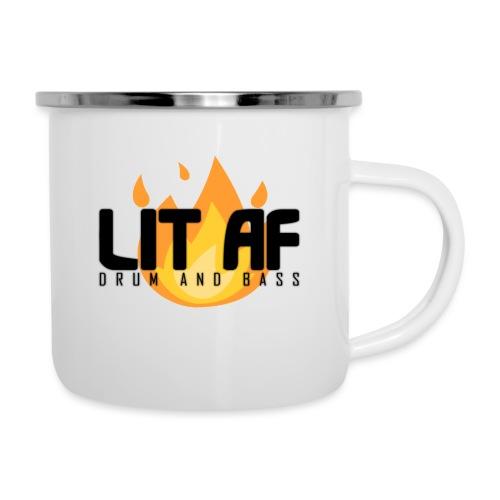 LIT AF Drum and Bass - Emaille-Tasse