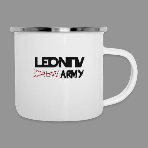 LeonTV ̶c̶̶r̶̶e̶̶w̶ ARMY - Emaille-Tasse