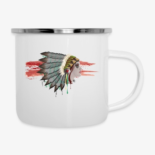 Native american - Tasse émaillée
