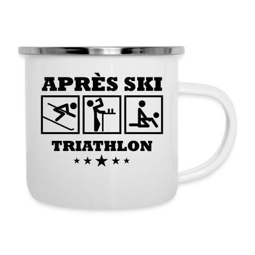 Apres Ski Triathlon | Apreski-Shirts gestalten - Emaille-Tasse