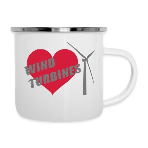 wind turbine grey - Camper Mug