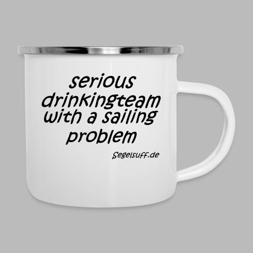 segeln mal anders - Emaille-Tasse