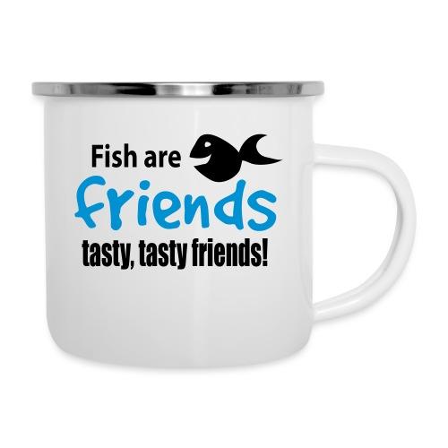 Fisk er venner - Emaljekopp