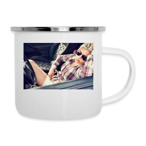 Cool woman in car - Camper Mug