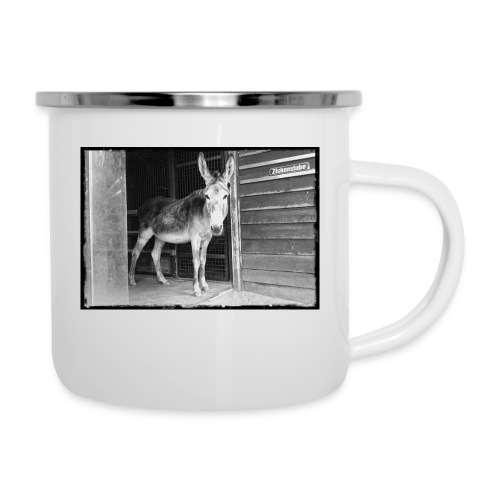 Zickenstube Esel - Emaille-Tasse