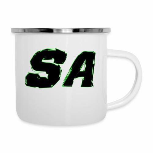 Svart SA Logo - Emaljmugg