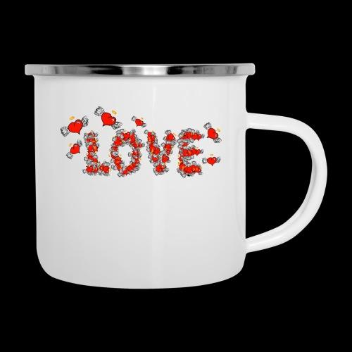 Flying Hearts LOVE - Emaljekrus