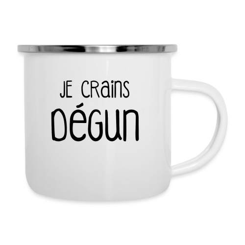 Humour Citation Marseille JE CRAINS DEGUN  - Tasse émaillée