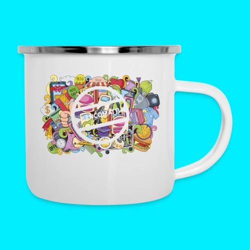 maglia logo doodle - Tazza smaltata