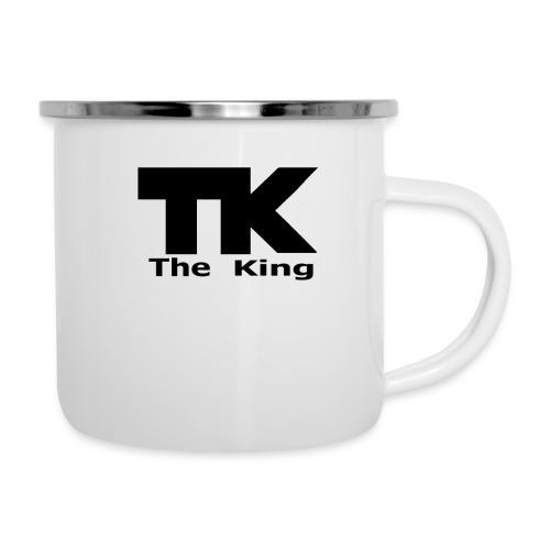 The King med ram - Emaljmugg