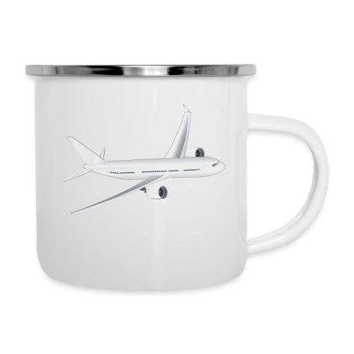 Flugzeug - Emaille-Tasse