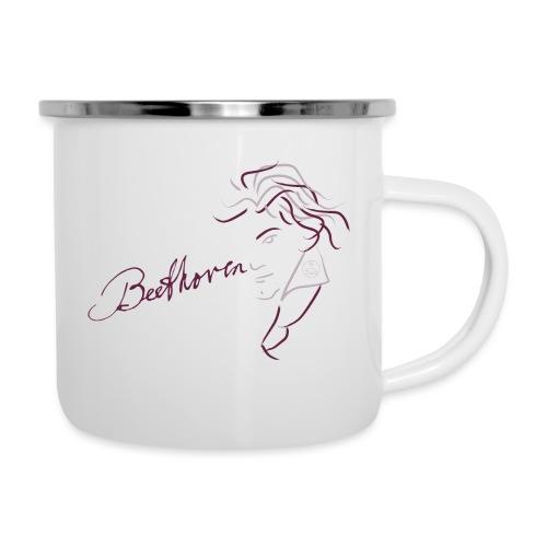 Beethoven (augerbine/rosa) - Emaille-Tasse