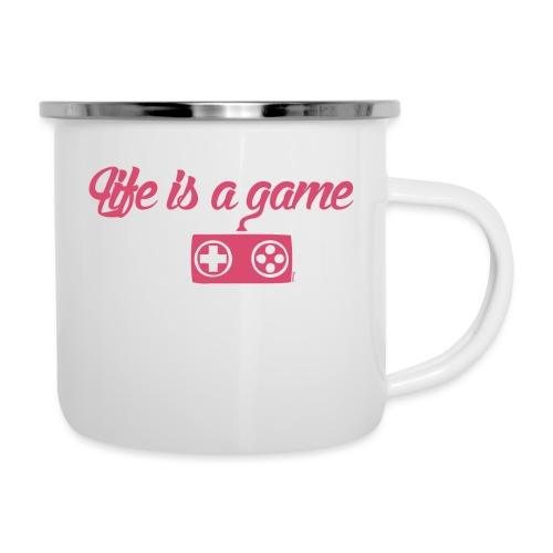 Life is a game (H) - Tasse émaillée