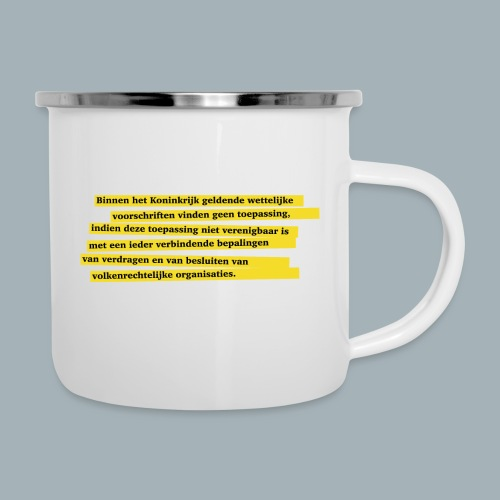 Nederlandse Grondwet T-Shirt - Artikel 94 - Emaille mok