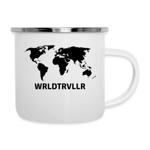 Worldtraveller - Emaille-Tasse