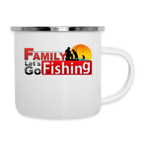 FAMILY LET´S GO FISHING FONDO - Taza esmaltada