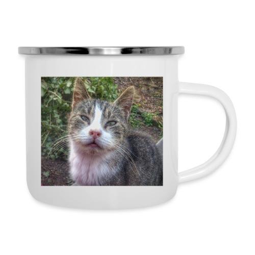 Katze Max - Emaille-Tasse