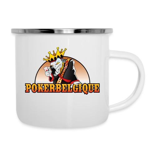 Logo Poker Belgique - Tasse émaillée