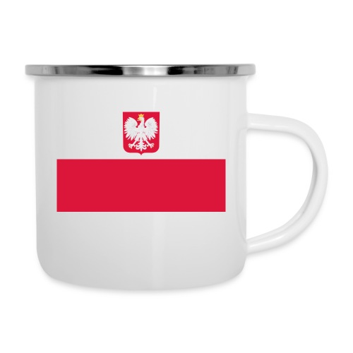 Flag of Poland with coat of arms - Kubek emaliowany