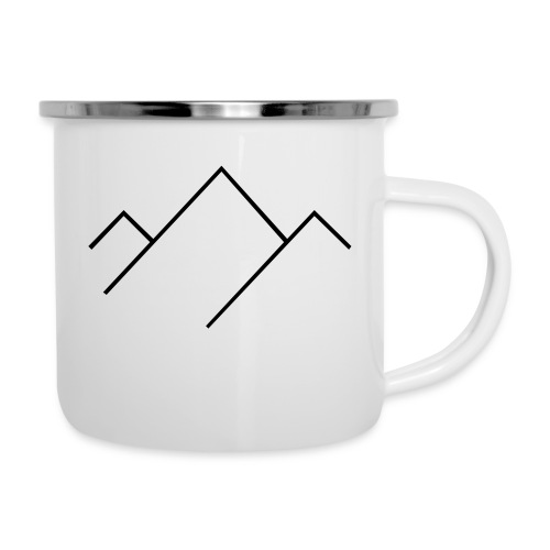 Natural Sports Hub icon mountain - Emaille-Tasse