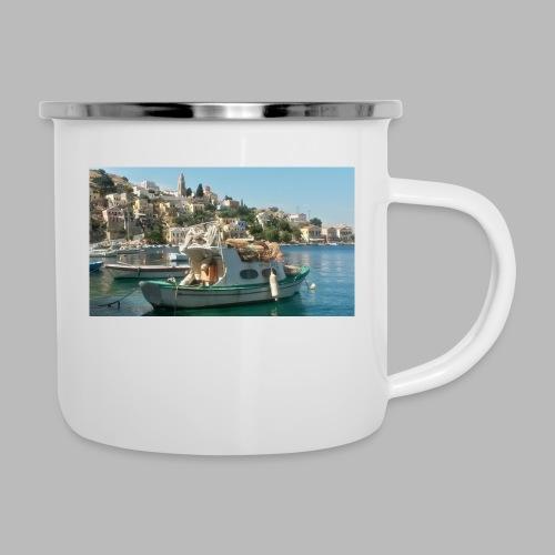 fischer griechenland - Emaille-Tasse