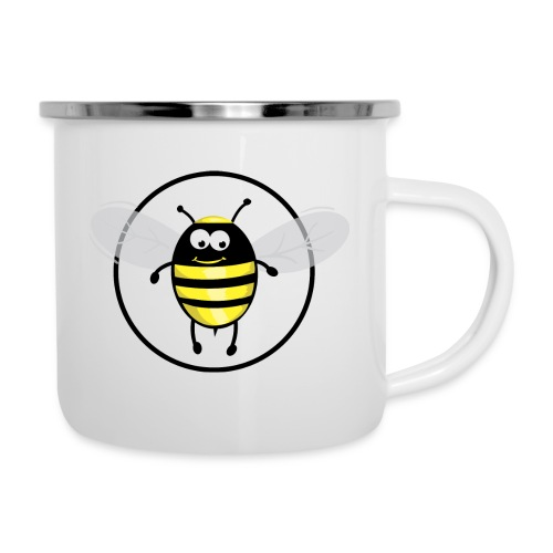 Hummelbienchen Logo - Emaille-Tasse