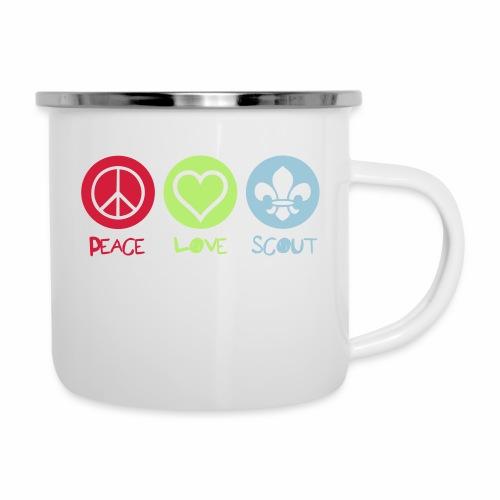 Peace Love Scout - Tasse émaillée