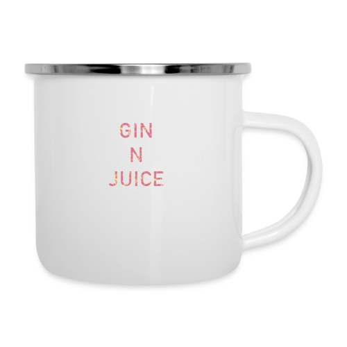 Gin n juice geschenk geschenkidee - Emaille-Tasse