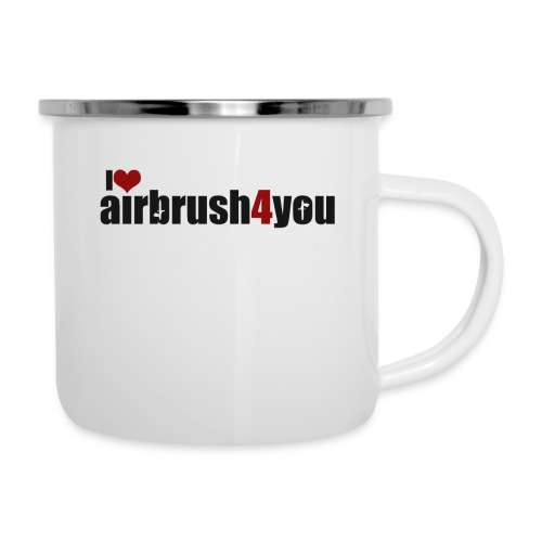 I Love airbrush4you - Emaille-Tasse
