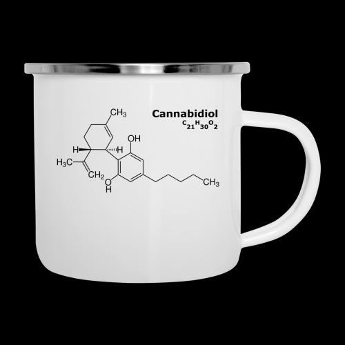 CBD Molekül - Emaille-Tasse
