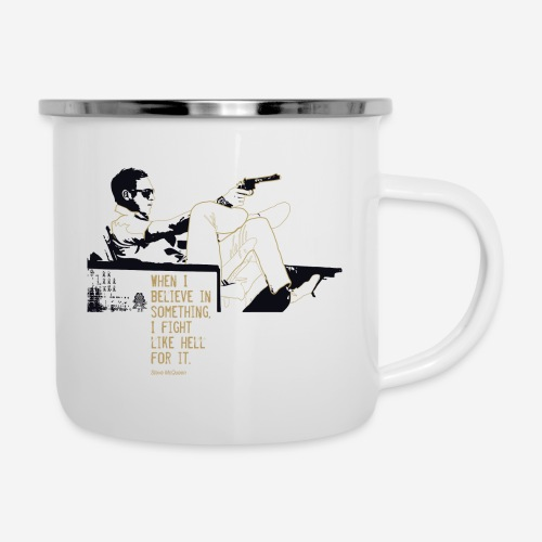 When I Believe in something! Gold - Emaille-Tasse