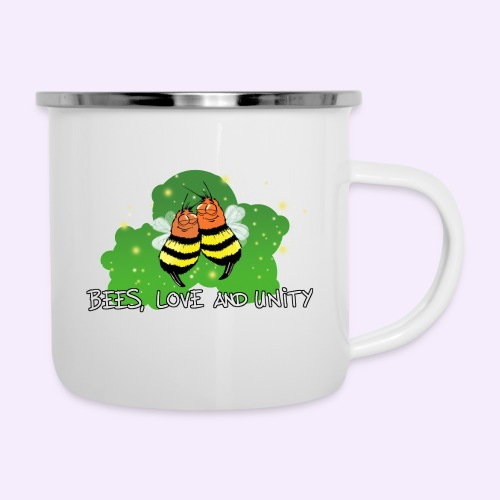 Bees Love and Unity - Emaille-Tasse