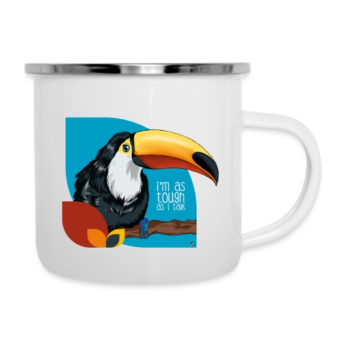 Tukan - großer Schnabel - Emaille-Tasse