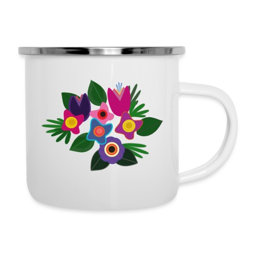 Flowers - Emaille-Tasse