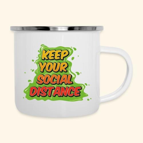 Keep your social distance - Tasse émaillée