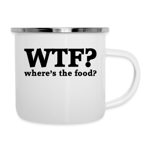 WTF - Where's the food? - Emaille mok
