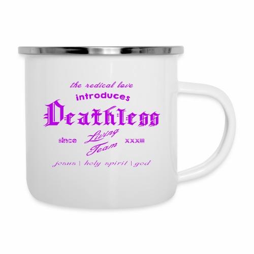 deathless living team violet - Emaille-Tasse