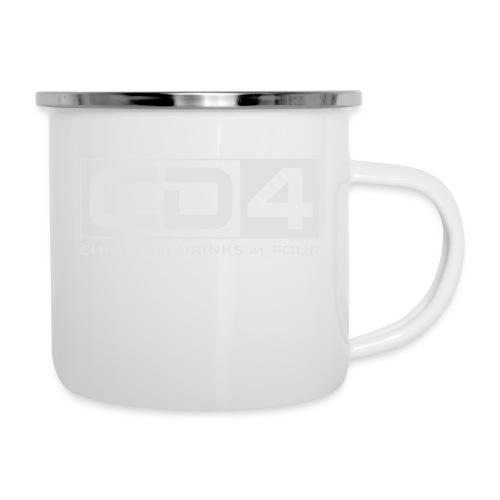 cd4 logo dikker kader bold font - Emaille mok