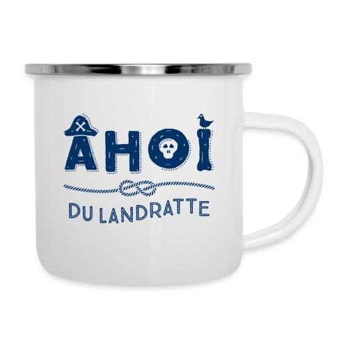 Ahoi du Landratte - maritimer Spruch - Emaille-Tasse