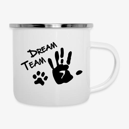 Dream Team Hand Hundpfote - Emaille-Tasse