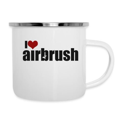 I Love airbrush - Emaille-Tasse