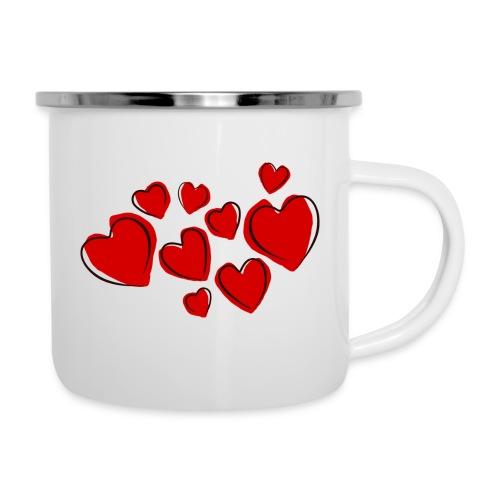 hearts herzen - Emaille-Tasse
