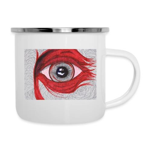 Auge - hypnotischer Blick - Emaille-Tasse