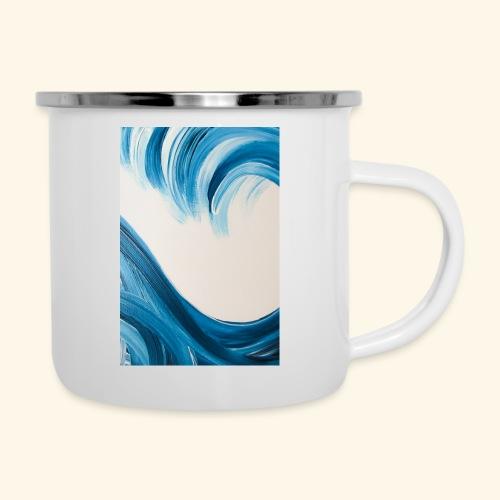 Große Welle hochformat - Emaille-Tasse