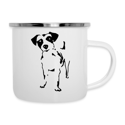Jack Russell Terrier - Emaille-Tasse