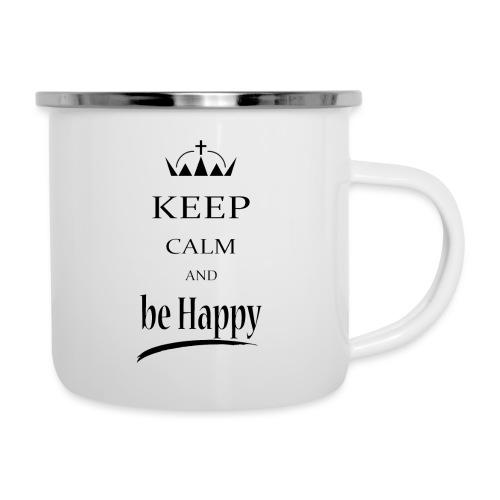 keep_calm and_be_happy-01 - Tazza smaltata