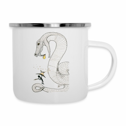 Poison - Fight against a giant poisonous snake - Camper Mug