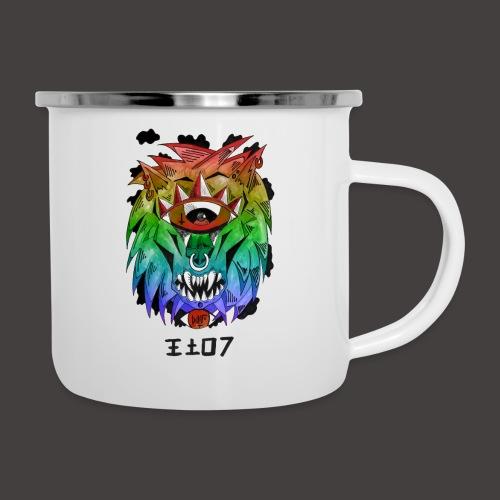 lion multi-color - Tasse émaillée